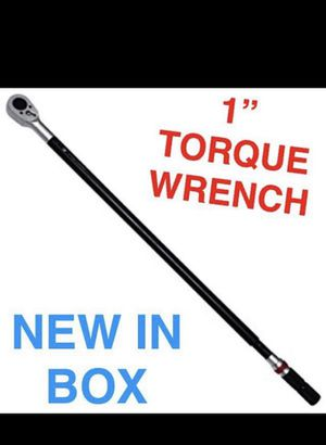 """Paid $650.. 1"""" ONE-INCH TORQUE WRENCH . NEW IN BOX.. with CASE! for Sale in Roseville, CA"""