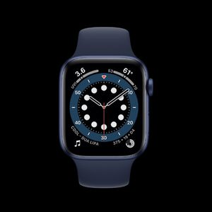 Apple Watch Series 6 GPS, 44mm Blue Aluminum Case With Deep Navy Sport Band for Sale in West Haven, CT