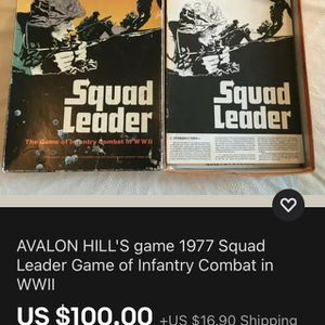 Squad Leader - The Game Of Infantry Combat In WWll for Sale in River Grove, IL