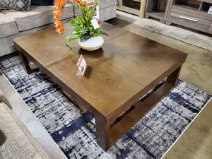 Ashley Furniture Brown Rectangular Coffee Center Table for Sale in Garden Grove, CA
