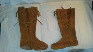 Ladies light brown moccasins boots for Sale in Moultrie, GA