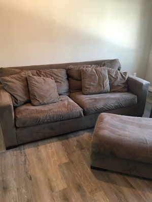 Crate & Barrel Sofa / Couch Chair & Ottoman for Sale in Rochester, MI