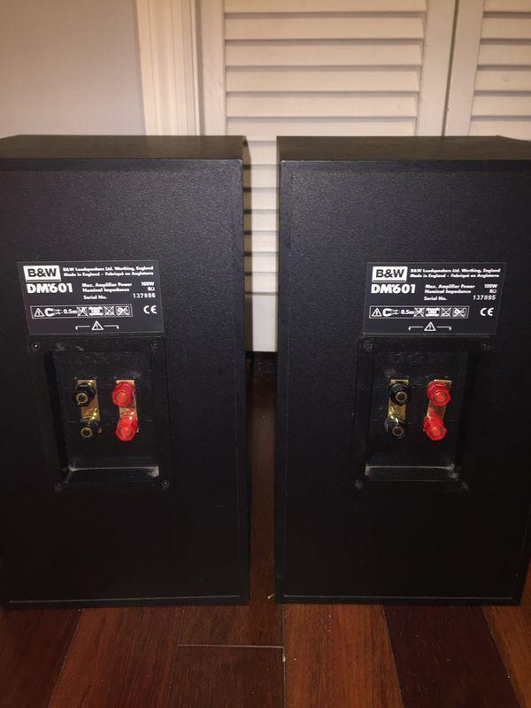 Bower and Wilkins (B&W) DM601 bookshelf speakers