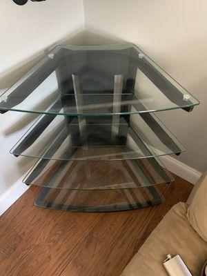 Corner 4 glass shelf unit for Sale in Sayreville, NJ