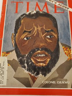 Vintage Time magazine Colonel Ojukwu August 23 1968s Biafra's agony for Sale in Las Vegas,  NV