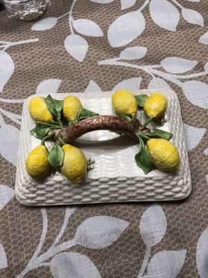 Vintage porcelain lid with lemons for Sale in South Miami, FL