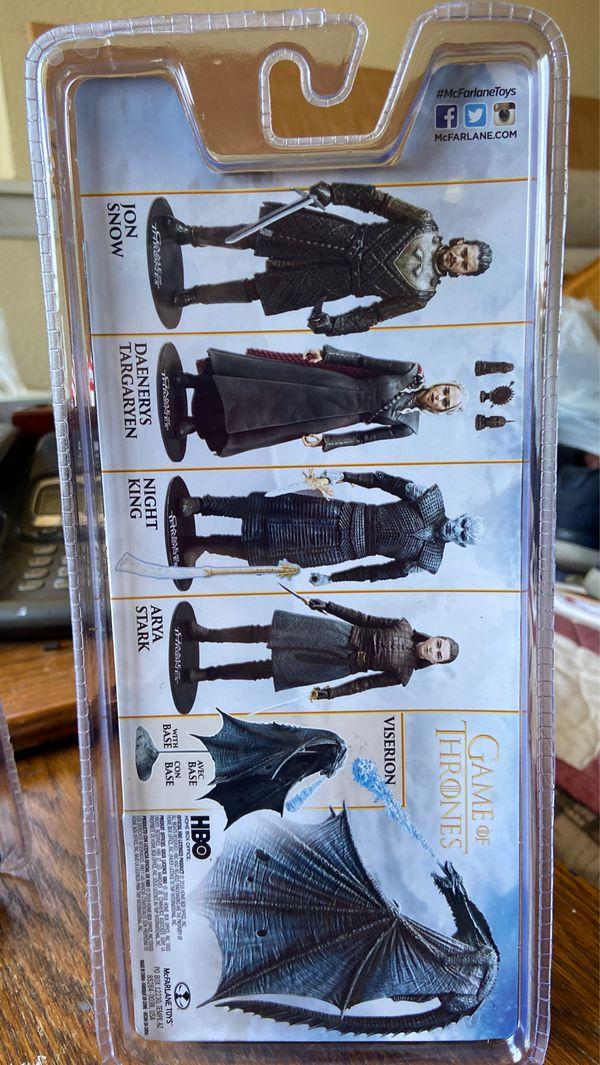 "McFarlane Game Of Thrones Targaryen & Snow 6"" action figures - New!"
