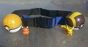 Pokemon Belt with 2 Pokeballs and Figure inside each Ball for Sale in Industry, CA