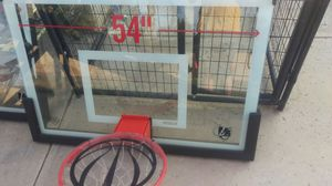 Lifetime 54 inch tempered glass power arm background for Sale in Riverside, CA
