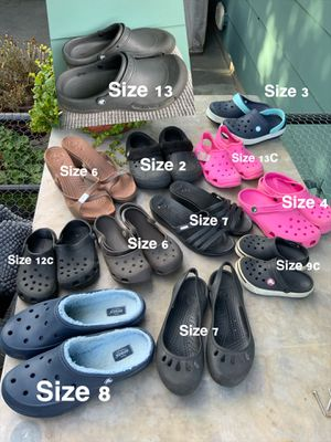 $10 Each CROCS shoes Mixed sizes Men's, Women, girls, boys ,shoes/sandals/slip on /heels/wedge for Sale in Gresham, OR