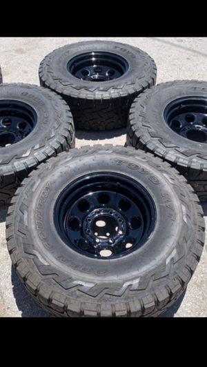 Black Rims and Toyo RT Tires Super Duty Wheels 2019 Rines y llantas 2017 F 250 f-250 2016 f250 rines 2008 llantas 2009 y 2010 Platinum 2011 fx4 2012 for Sale in Dallas, TX