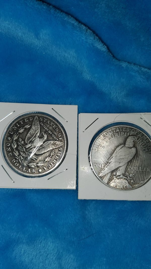 "Morgan Dollar/ Peace Coin- MAKE $ OFFER OR WILL TRADE FOR (?) NO COINS PLEASE-""1888-O"", ""1921"""