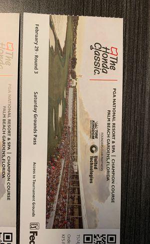 4 Honda Classic tickets for Saturday for Sale in Boca Raton, FL