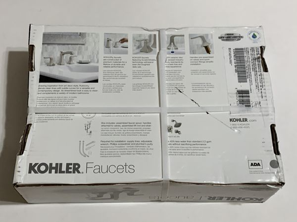 KOHLER 8 in. Widespread 2-Handle Bathroom Faucet