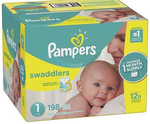 Pampers diapers size 1 Swaddlers for Sale in Downey, CA