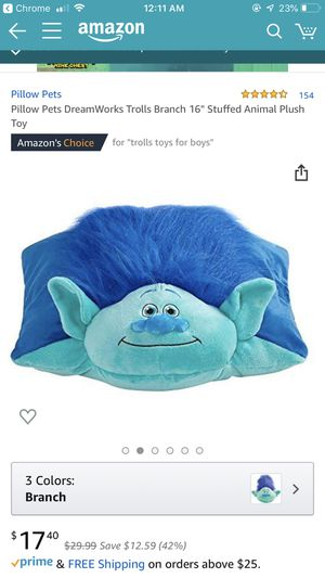 Pillow Pets Trolls Character & Toy for Sale in Marysville, WA