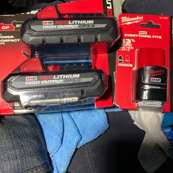 Milwaukee Red Lithium Batterys for Sale in Olympia,  WA