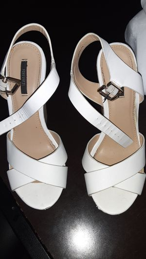 WEDGES WHITE FOREVER 21 for Sale in College Station, TX