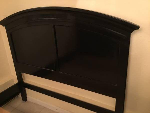 Queen bedroom set 4 pieces real wood big tall dresser,2 nightstands,bed frame,rails,slants