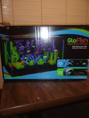 Glo Fish experience the glo 10g aquarium kit with blue & white LED'S for Sale in Kearns, UT