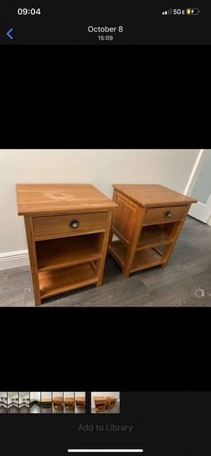 Solid cherry wood end tables for Sale in Delray Beach, FL