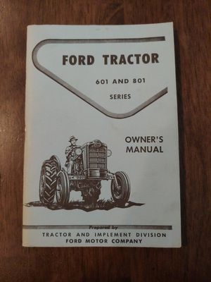 1961 FORD TRACTOR OWNER'S MANUAL for Sale in Glendale, AZ