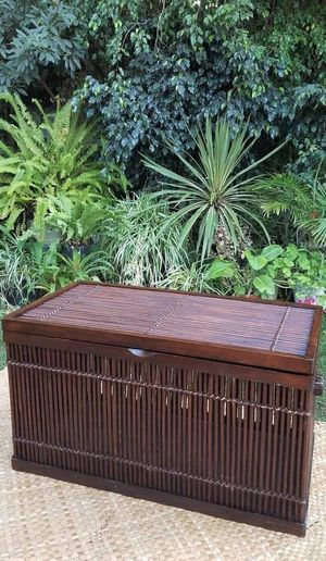 Pier 1 Bamboo Rattan Trunk for Sale in San Diego, CA