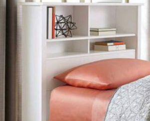 New!! Twin headboard, twin bookcase headboard, twin storage headboard, bedroom furniture, white for Sale in Phoenix, AZ