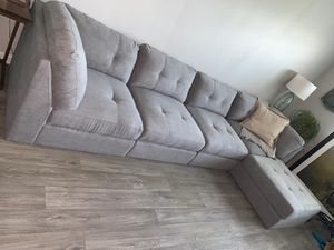 Gray Sectional Sofa $599 / Financing Available for Sale in Miami, FL