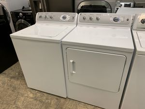 Ge profile washer dryer set electric for Sale in Phoenix, AZ