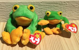Vintage 90's Beanie Baby Smoochy Frog ~ And Teenie Smoochy ~ Check out my Page 😊 for Sale in Fresno, CA