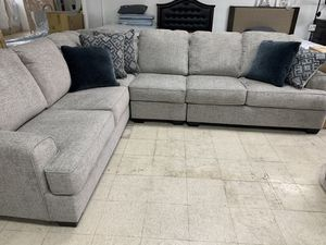 Sectional sofa 3 Pc L shaped Take it home today Romeo's Furniture downtown Madera for Sale in Madera, CA