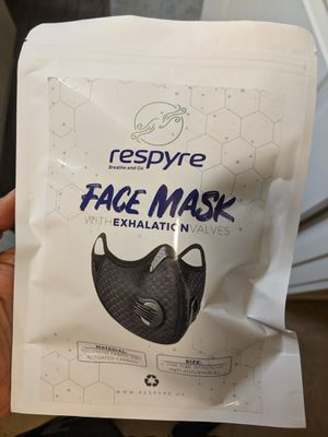 High Quality Sports Face Mask with Exhalation Valves and filters (4 filters per package) - Anti-dust - Cycling / Jogging / Walking Mask for Sale in Redmond, WA
