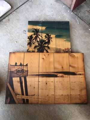 Wooden vintage photo signs Jack's Surfboards Huntington Beach for Sale in Bellflower, CA