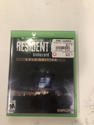 Resident evil 7 Xbox one for Sale in Huntersville, NC