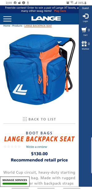 Lange backpack seat OBO for Sale in Clearwater, FL