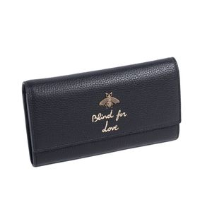 """GUCCI Animalier Black leather & Gold Bee """"BLIND FOR LOVE"""" Continental Wallet for Sale in Lynnwood, WA"""