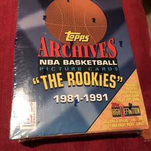Topps Archives The Rookies NBA Trading Cards Sealed Box for Sale in Auburn, WA