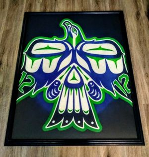 Large Framed Tribal Seahawks for Sale in Marysville, WA