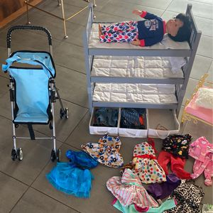 American Girl Doll And Generation Boy Doll With Furniture for Sale in Phoenix, AZ
