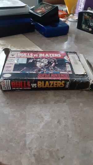 Super Nintendo Bulls vs Blazers for Sale in Sterling Heights, MI
