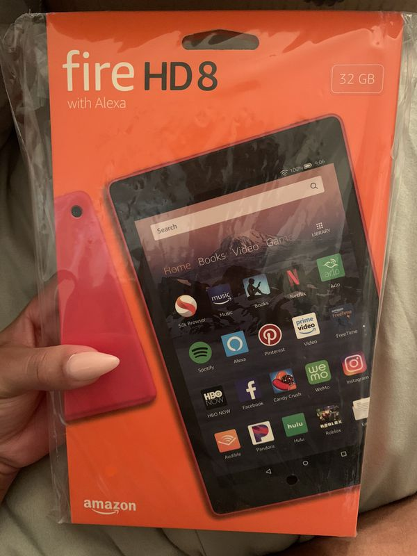 Red, Amazon fire HD tablet 32gbs