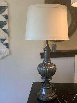 Lamp , grey & cream shade for Sale in Vista, CA