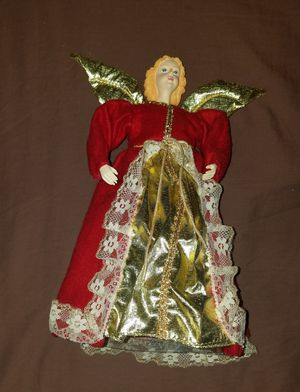 Red angel tree topper for Sale in Altoona, PA