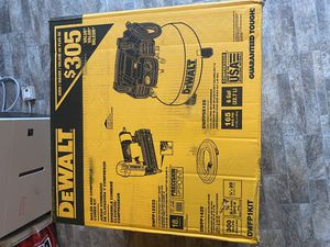 Dewalt compressor and nail gun combo kit for Sale in McHenry, IL