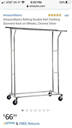 Double rod clothing rack heavy duty for Sale in Charlottesville, VA