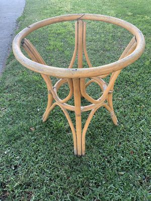 Rattan bamboo Boho table stand. for Sale in Huntington Park, CA