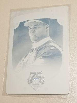 Baseball card Frank Thomas panini 1 of 1 cyan printing plate for Sale in Stockton, CA