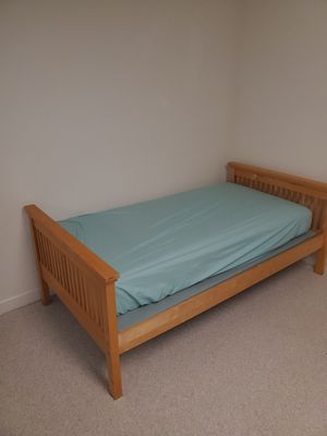 Twin Wooden Bed Frame With Box Springs for Sale in Ashburn, VA