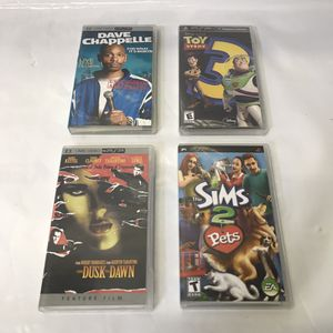 Psp games and movies playstation portable lot for Sale in Rockville, MD